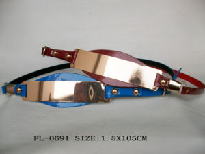 PU Belt with Big Metal Fl-0691 pictures & photos