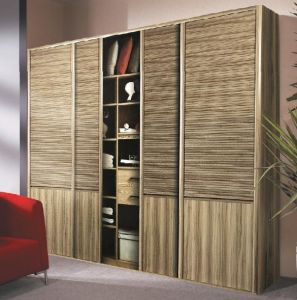 Laminated MDF Sliding Door for Wardrobe pictures & photos