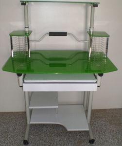Glass Computer Desk (KA-210 Green)