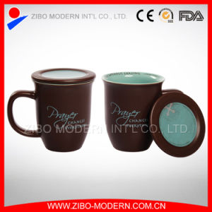 Color Porcelain Ceramic Coffee Mug with Lid pictures & photos