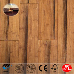 Carbonized Antique Style Strand Woven Bamboo Floor