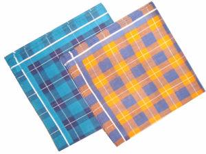 Woven Border Handkerchief/Cotton Handkerchief pictures & photos