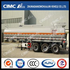 Cimc Huajun 3axle Stainless Liquid/Fuel/Gasoline/Oil/LPG Tanker pictures & photos