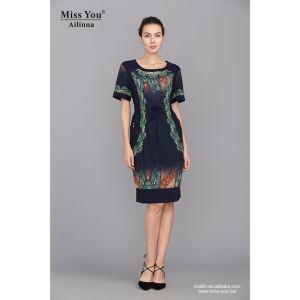 Miss You Ailinna 101279 Short Woven Dress Wholesaler Short Sleeve Knee High Dress pictures & photos