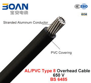 AAC/PVC Type 8, PVC Covered Conductors for Overhead Power Lines, 650 V (BS 6485) pictures & photos