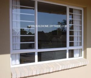 High Tension Security Double Glass Aluminium Windows Prices pictures & photos
