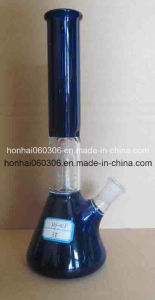 Blue Donut Bottom Pyrex Glass Water Pipe with/ Dome Perc 8′′ pictures & photos