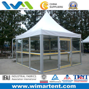 4X4m Glass Wall Pagoda Tent for Party pictures & photos