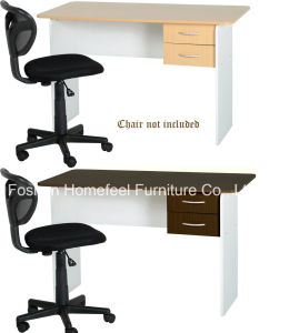 Modern Basic Wooden Student Computer Desk with 2 Drawers pictures & photos