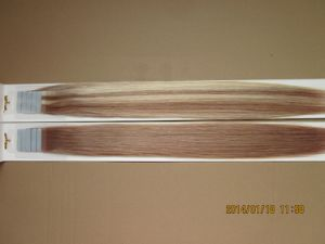 European Remy Seamless PU Tape on/off Hair Extension pictures & photos