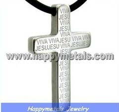 Stainless Steel Cross Pendant (N5538)