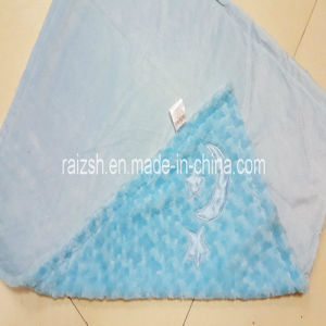 100% Polyester Oeko-Tex 100 Light Blue Baby Blanket pictures & photos