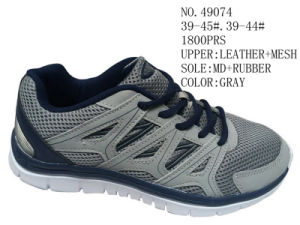 Gray Color Men Sport Stcok Shoes pictures & photos