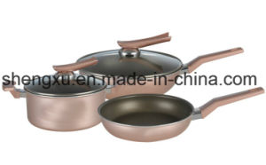 Handle Coated Aluminium Non-Stick Frying Pan for Cookware Sets Sx-A002 pictures & photos