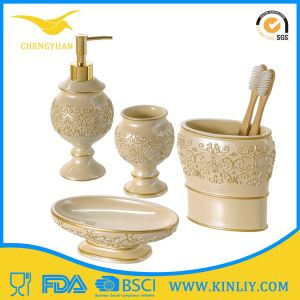 Modern Design Ceramic Soap Holder Bathroom Accessory Bathroom Set pictures & photos