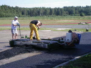 Paver Machine for Running Track pictures & photos