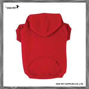 Fleece Plain Dog Hoodie Red Sph6001-3 pictures & photos