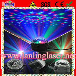 Cheap 3W RGB Auto Sound Indoor Magic LED Crystal Ball pictures & photos