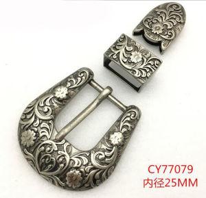 Belt Buckle Pin Buckle Lady′s Buckle Women′s Belt Buckle Metal Three-Piece Pin Buckle for Belt pictures & photos