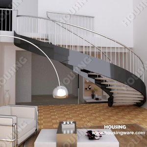 Indoor Double Stringer Curved Stair/Staircase