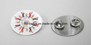 Customized Stainless Steel Printing Badge with Epoxy (PN096)
