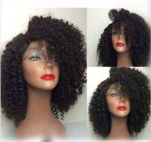 Fashion Curly Bob Wig for Black Women Brazilian Hair Glueless Full Lace Wig pictures & photos