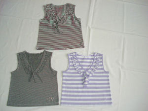 London Knit Stripe Vest (4373)