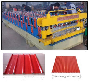 Double Layer Steel Tile Roll Forming Machine for Roofing Sheet Panel pictures & photos