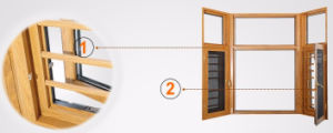 Good Quality Cheap Price Aluminum Wood Window pictures & photos