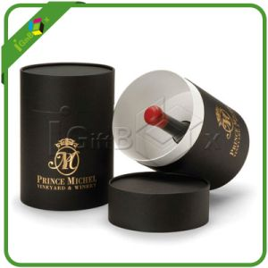 Luxury Top Design Paper Wine Packaging Round Gift Box pictures & photos
