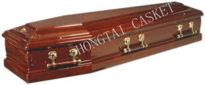 Solid Wood Coffin for The Funeral