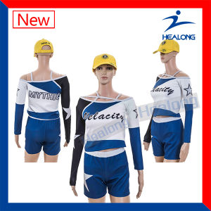 Healong Gril Sexy Wholesale Costume Cheerleading Uniform pictures & photos