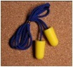 Cylinder Style Plastic Wire Corded PU Foam Soft Earplug Ce pictures & photos