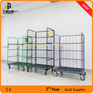 Supermarket Wire Mesh Roll Container Cage pictures & photos