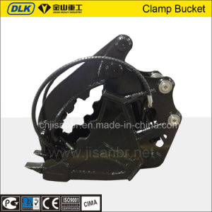 7-11ton Jcb Excavator Used Clamp Bucket for Stone Grab pictures & photos