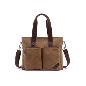Vintage Customized 100% Cotton Canvas Messenger Bag Satchel Shoulder Bag for Men