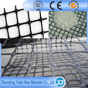 HDPE/LDPE Plastic Uniaxial 25/25-150/150kn/M2 Geogrid for Earthwork Road Paved pictures & photos