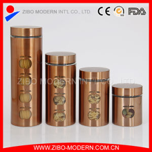 Wholesale Stainless Steel Coated Glass Storage Jar pictures & photos