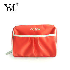 Fashion Ladies Promotional Pink Nylon Cosmetic Bag pictures & photos