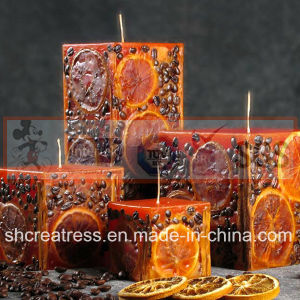 Embedded Dry Flower Lemon Slice Art Candles pictures & photos