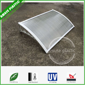 Economic Easy Assembling Plastic Hollow Polycarbonate Window Awnings Door Canopies pictures & photos