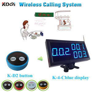 Restaurant Table Buzzer Button Long Distance Transmitter Wireless Calling System pictures & photos