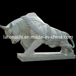 OEM & ODM Grey Granite Bull Animal Garden Statue Landscape Sculptures pictures & photos