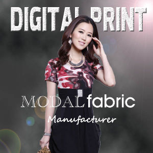 2017 Custom Modal Silk Fabric Digital Printing for Dress (X1113) pictures & photos