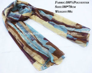 100% Polyester Chiffon Infinity Scarve pictures & photos