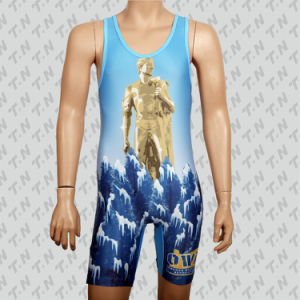 2015 Promotional Custom Cheap Sublimation Wrestling Singlet pictures & photos