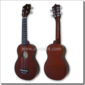 "21"" Linden Plywood China Soprano Ukulele Guitar (AU01R) pictures & photos"