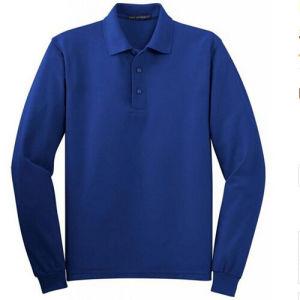 Blank Plain Mens Long Sleeve Polo Shirt pictures & photos