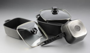 6PCS Die-Cast Aluminum Non-Stick Cookware Set pictures & photos