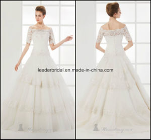 off-The-Shoulder Wedding Ball Gowns Lace Fashion Bridal Dresses Z2007 pictures & photos